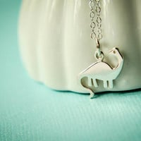 Brontosaurus Necklace in Sterling Silver