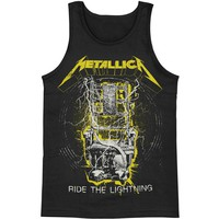 Metallica Men's  Neon Ride The Lightning Mens Tank Black