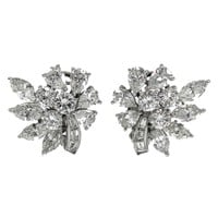 Cartier Diamond Platinum Ear clips