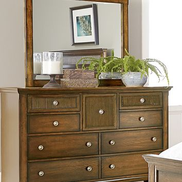 Cotswold Grove Transitional Drawer Dresser Root Beer