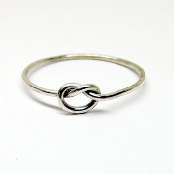 Sterling Silver Promise Love Knot Ring Gift for Her - Free Shipping - Oh My Metals