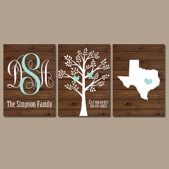Wedding family tree state monogram wood from trm design wall for Last name pictures architecture