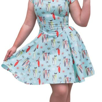 Mandie Bee Roxie Dress in Atomic Cats | Blame Betty