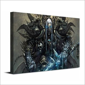 1 Panel Canvas Art World of Warcraft Frozen Throne Wall Art Print on Canvas