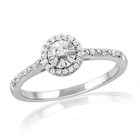1/10 CT. T.W. Diamond Frame Promise Ring in Sterling Silver - Save on Select Styles - Zales