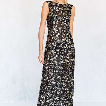 Kimchi Blue Floral Sheer Mesh Maxi Dress - Urban Outfitters