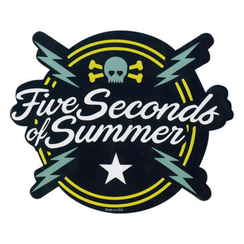 5 seconds of summer bolt logo sticker
