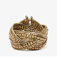 Metallic Beaded Cuff