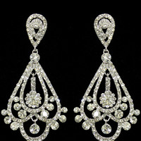 Opulence Earrings in Silver – bandbcouture.com