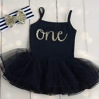 First birthday outfit girl Baby girl 1st birthday outfit 1st birthday girl outfit black dress Smash cake outfit one birthday dress