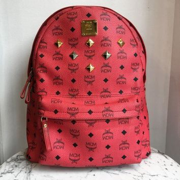 Mcm Studded Backpack