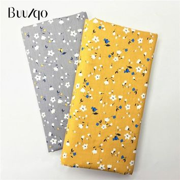 Buulqo 2018 new floral prints Cotton twill fabric for sewing upholstery tecido tissue patchwork bedding quilting Material