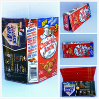 Upcycled - Cracker Jack box - Wallet - Pouch - Cell Phone Holder