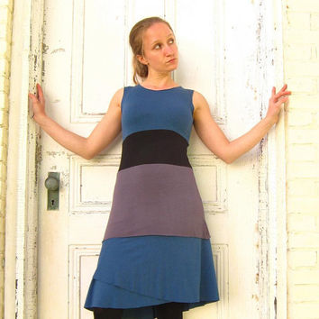 Organic Clothing - Triple Tiered Tank Top (Soy or Bamboo Organic Cotton)