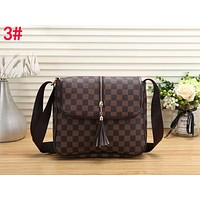 LV Louis Vuitton New Popular Women Shopping Bag Tassel Leather Shoulder Bag Crossbody Satchel