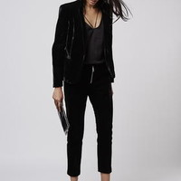 Premium Velvet Tux Jacket and Cigarette Trousers