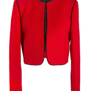 Lanvin Cropped Red Jacket with Contrasting Trim
