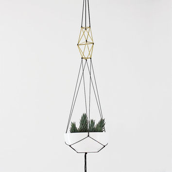 Brass Himmeli Hanging Planter no. 1 without Pot / Modern Macrame Planter / Plant Hanger / Minimalist Home Decor
