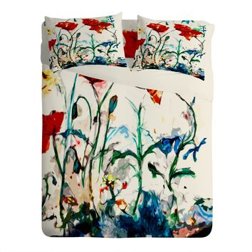 Ginette Fine Art Poppies In Light Sheet Set Lightweight