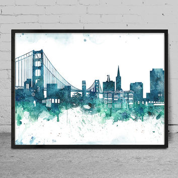 Perfect San Francisco Wall Art Best Skyline Painting Products On Wanelo