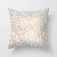Glimmer of Light II (Ombré Glitter Abstract*) Throw Pillow by soaring anchor designs ⚓ | Society6