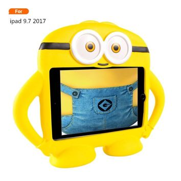 For ipad pro 9.7inch Kids Minions EVA Shockproof Heavy Duty Stand Foam Child Case Cover New For Ipad 9.7inch 2017