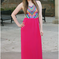 Sugar & Spice Maxi Dress - Hot Pink