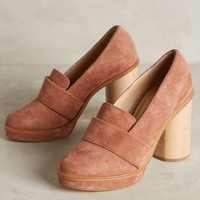 Ouigal Lou Loafer Heels Pink