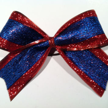 3 inch cheerleader competition cheer bow by 2girls2Tus on Etsy