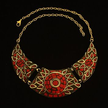 Statement Necklace,Tribal Indian Necklace.