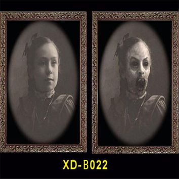 Changeable 3D Ghost Photo Frame Horror Portrait Picture Halloween Party Decoration Props Mayitr