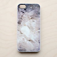 Quartz iPhone 5 4 4S Case New Crystal Clear Stone