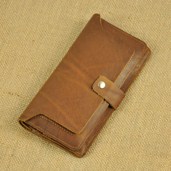 vintage handmade genuine leather long wallet cool gift 32