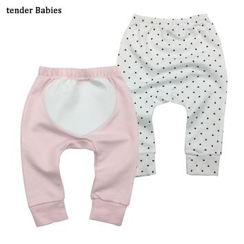 2pcs/lot Boys Girls Baby Pants Unisex Kids Harem PP Trousers Knitted Cotton Boys Girls Toddler Leggings Newborn Infant Clothing