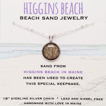 Higgins Beach Sand Jewelry, Scarborough Beach Sand Jewelry, Maine Beach Sand, Surf Jewelry, Special Keepsake Gift, Maine Made