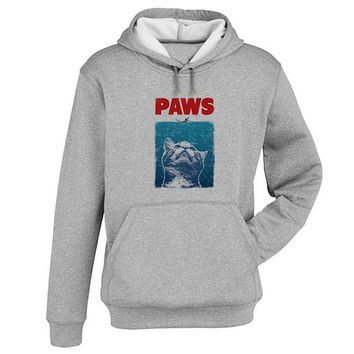 paws Hoodie Sweatshirt Sweater Shirt Gray and beauty variant color for Unisex size