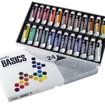 Basics Acrylic Paint 24/Pkg-24 Colors