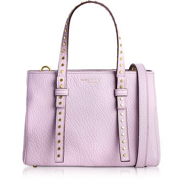Marc Jacobs Pale Lilac Leather Mini T Studded Tote