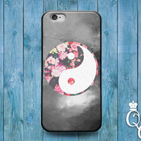 iPhone 4 4s 5 5s 5c 6 6s plus iPod Touch 4th 5th 6th Generation Cute Custom Floral Flower Ying Yang Beautiful Phone Cover Cool Boy Girl Case