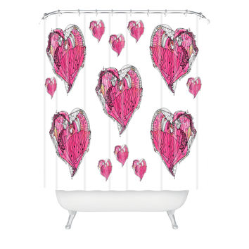 Ingrid Padilla Romance Love Heart Shower Curtain