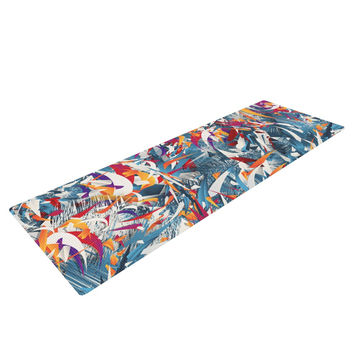 "Danny Ivan ""Excited Colours"" Blue Abstract Yoga Mat"