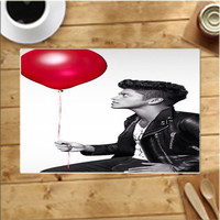 Bruno Mars Red Balloon Pose Placemats