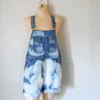 Women Denim Overall Shortalls Denim Shortalls Denim Overall Shorts Denim Bib Overalls 90s Overalls Blue Jean Overalls Over All