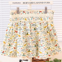 Spring Floral Pattern Lace Mini Skirt