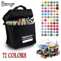 Bianyo Artist Double Headed Marker Set 36 48 60 72 Colors Manga Markers for School Drawing Sketch Marker Design Supplies