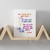 """""""You have brains in your head..."""" Dr. Seuss Quote Gallery Wrapped Canvas"""