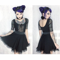Lacey Gothic Lolita Inspired Dress