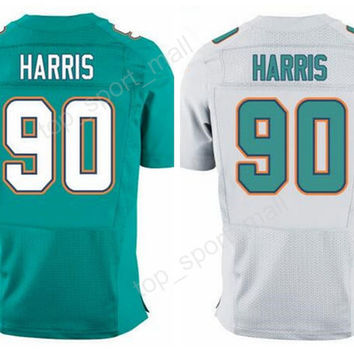 Discount 90 Charles Harris Jersey Men 2017 Draft Pick For Sport Fans Charles Harris Football Jerseys American Home Road Green White