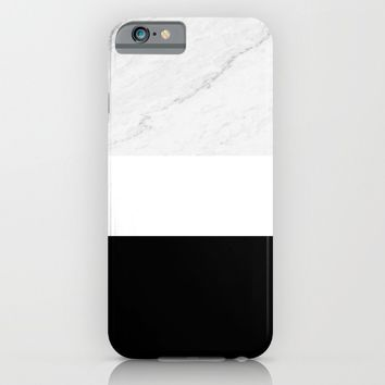 Marble Black White iPhone & iPod Case by ARTbyJWP