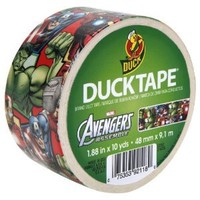 Duck Brand 281867 Avengers Printed Duct Tape, 1.88 Inches by 10 Yards, Single Roll
